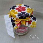 Caros Bastelbude: Brownies als Backmischung im Glas, verwendete Stempelsets: Ach du meine Grüße & Flower Shop von Stampin' Up!, bestempelte Serviette