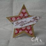 Caros Bastelbude: Weihnachtskarte mit den Stern Framelits von Stampin' Up!