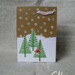 Caros Bastelbude: Weihnachtskarte mit Christbaumfestival von Stampin' Up!