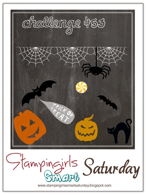 Caros Bastelbude: Stampin Girls Smart Saturday Challenge #53, Thema Halloween