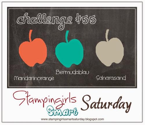 Caros Bastelbude: Stampin Girls Smart Saturday Challenge #55, Farbkombination