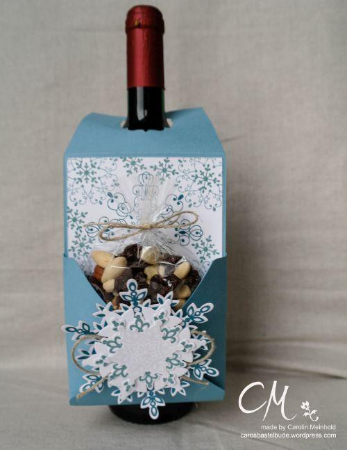 Caros Bastelbude: Adventskalender Türchen Nr. 7, Flaschenanhänger mit Snack, Tutorial