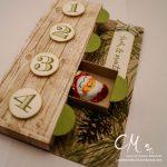 """Caros Bastelbude: Adventskalender Türchen Nr. 1, Karte """"Advent, Advent"""", mit 4 Fächern für Süßigkeiten, Tutorial"""