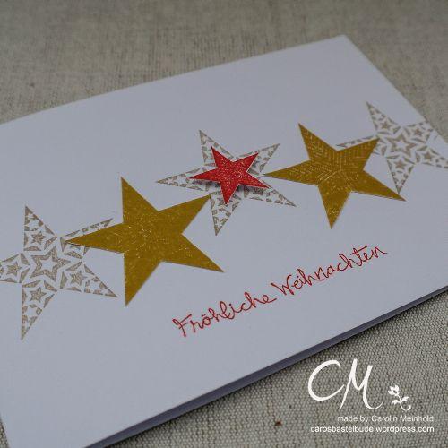 Caros Bastelbude: Weihnachtskarte für Around the World Challenge