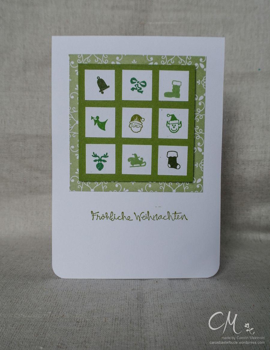 Caros Bastelbude: Adventskalender Türchen Nr. 11, Weihnachtskarten Inchies