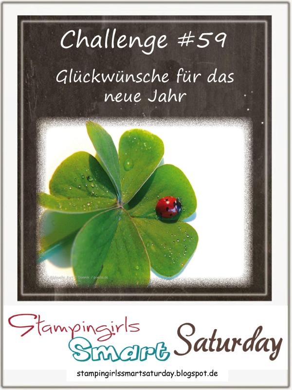 Caros Bastelbude: Stampingirls Smart Saturday Challenge #59, Glückwünsche Neues Jahr