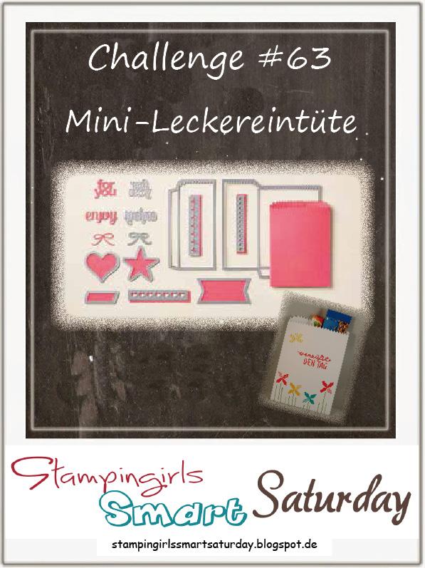 Caros Bastelbude: Stampingirls Smart Saturday Challenge #63, Mini-Leckereientüte