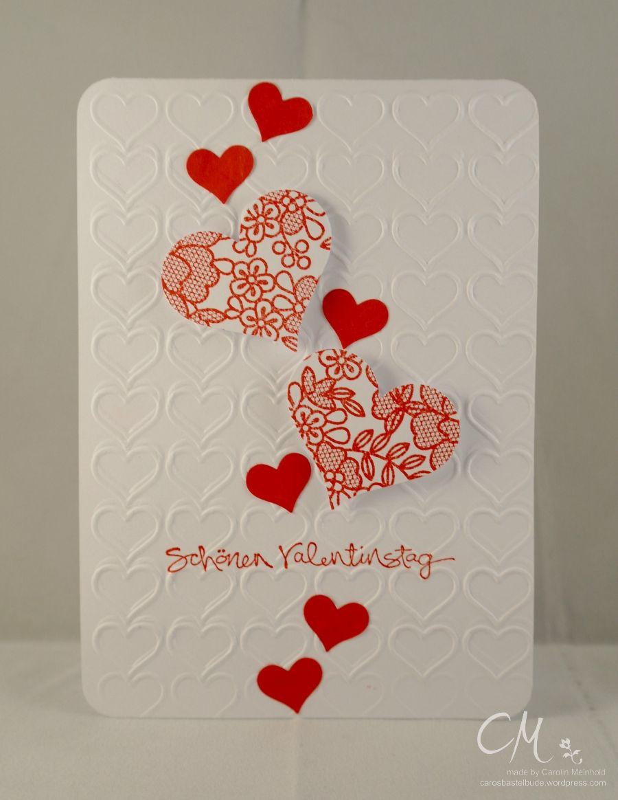 Caros Bastelbude: Valentinstag, Stampin' Up!, Something Lacy, Herzen