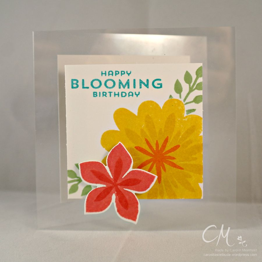 Caros Bastelbude: Karte mit Polylux Folien, Stampin' Up!, Flower Patch