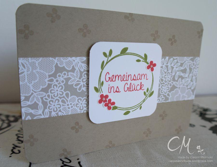Caros Bastelbude: Hochzeitsglückwünsche #StampinUp #Perfekter Tag #Hochzeit carosbastelbude.wordpress.com