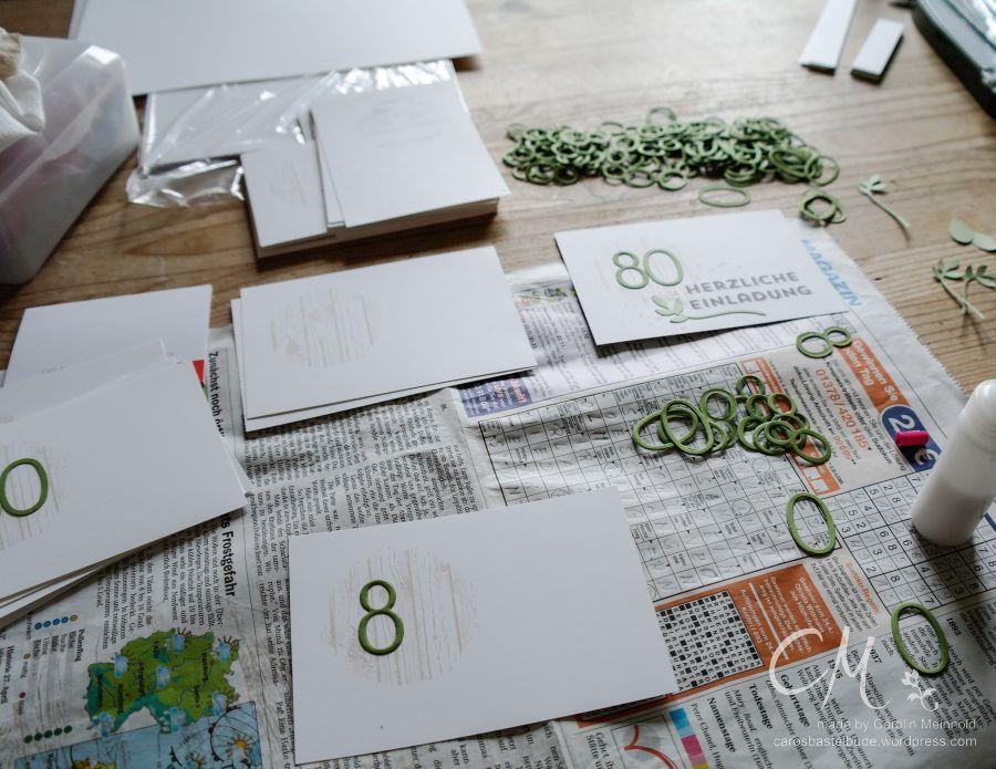Einladungskarte 80. Geburtstag #CarosBastelbude #StampinUp #Geburtstag carosbastelbude.wordpress.com