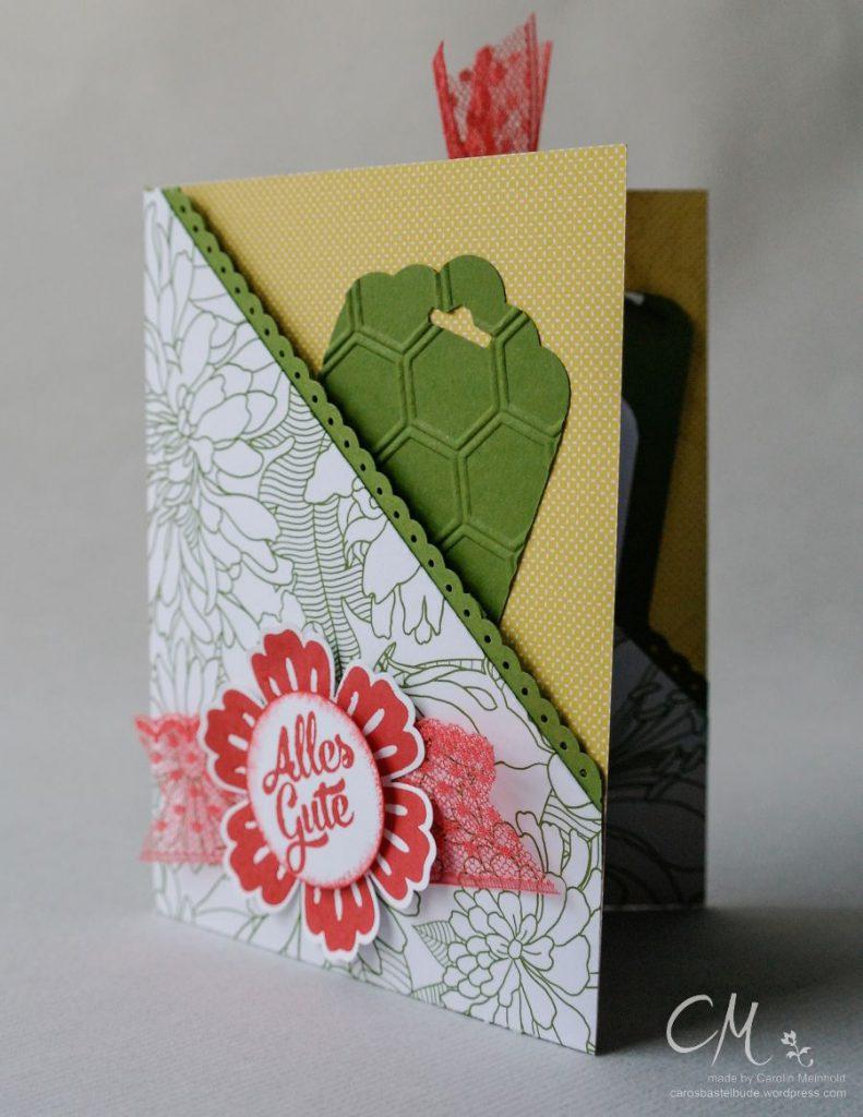 Double Pocket Card mit der diagonalen Auflage für's Falzbrett #CarosBastelbude #StampinUp #cardmaking #Geburtstag carosbastelbude.wordpress.com