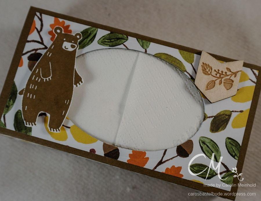 Stampingirls Smart Saturday: Werd schnell gesund, Taschentücher-Box als kleines Geschenk, mit dem Envelope Punch Board, Stampin' Up! #CarosBastelbude carosbastelbude.wordpress.com