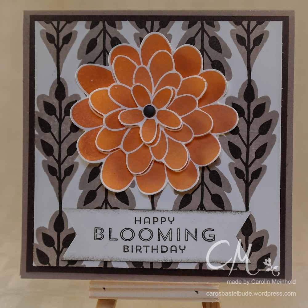 Geburtstagskarte mit dem Set Flower Patch, Stampin' Up! #CarosBastelbude carosbastelbude.de