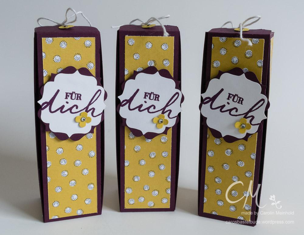 Besondere Verpackung, Geschenk für Gastgeberin #CarosBastelbude carosbastelbude.wordpress.com