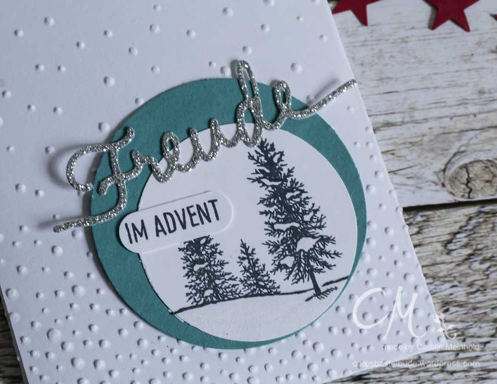 Mini-Adventskalender verpackt in einer Leckereientüte #CarosBastelbude