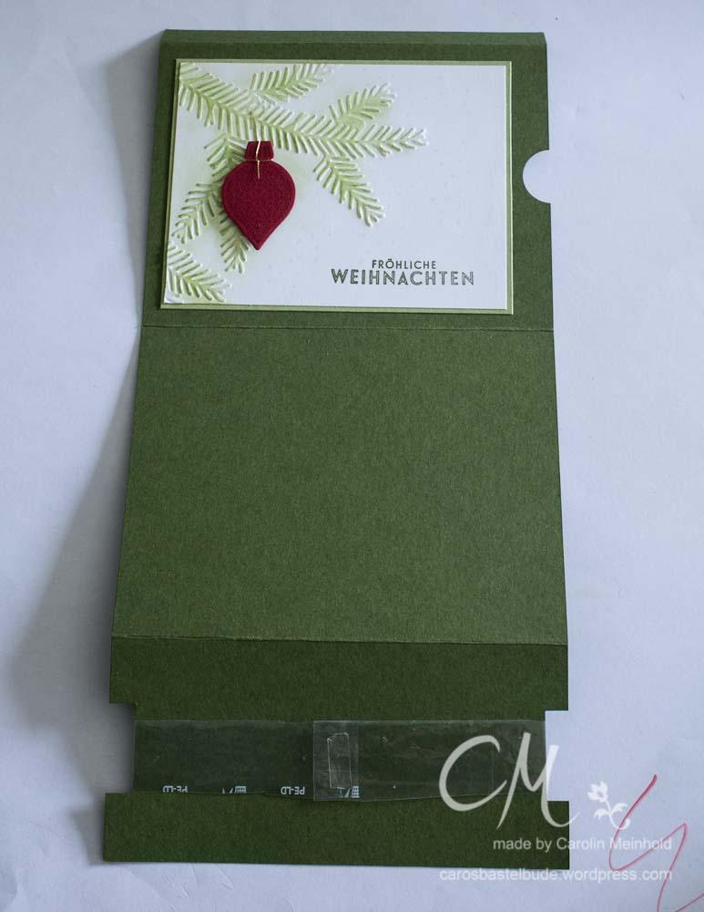 Weihnachtliche Slider Karte #CarosBastelbude