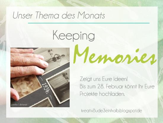 Tafel Keeping Memories kreativbude3einhalb