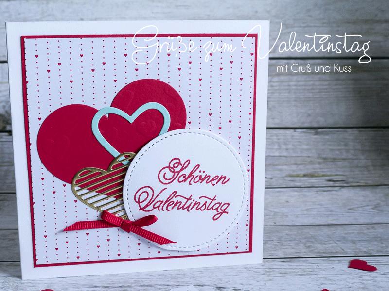 Grußkarte zum Valentinstag mit besonderem Innenleben #CarosBastelbude