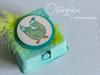 Stampin' Up! Eierkarton eingefärbt in Bermudablau
