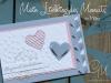 Grußkarte zur Hochzeit oder zum Muttertag
