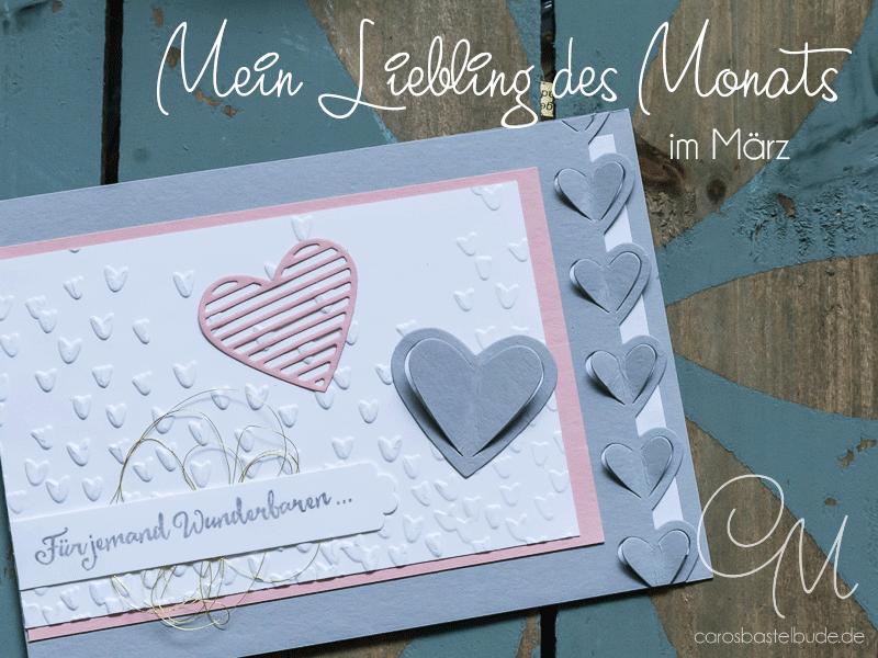 Grußkarte zum Muttertag gemacht mit Framelits Liebegrüße & Prägeform Blütenregen #CarosBastelbude