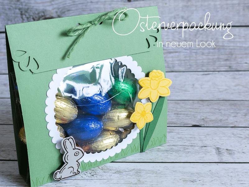 Geschenkverpackung zu Ostern gestaltet mit dem Stempelset Osterkörbchen von Stampin' Up! mit Tutorial, Osterverpackung #CarosBastelbude