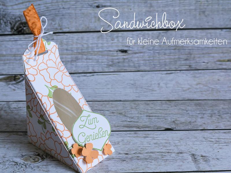 Kleine Sandwichbox für Süßes zum Geburtstag, Muttertag oder zu Ostern #CarosBastelbude