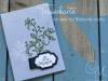Trauerkarte gestaltet mit dem Set Blühende Worte