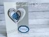 Eine Four Fold Karte zur Hochzeit
