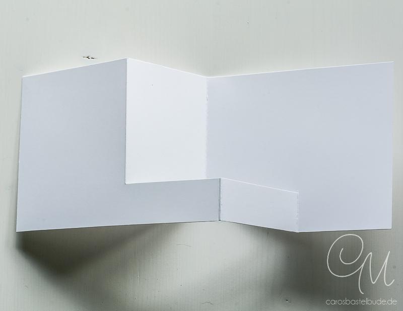 Anleitung für eine Grußkarte zum Geburtstag in Z-Fold Form, Angaben in cm, gestaltet mit den Stempelsets Zum Geburtstag und Penned & Painted von Stampin' Up!, Z-Fold CardAnnual, Catalog 2017 #CarosBastelbude