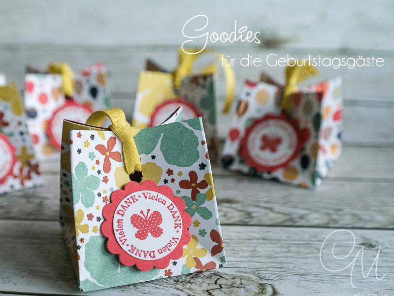 Goodies als kleines Geschenk für die Geburtstagsgäste #CarosBastelbude