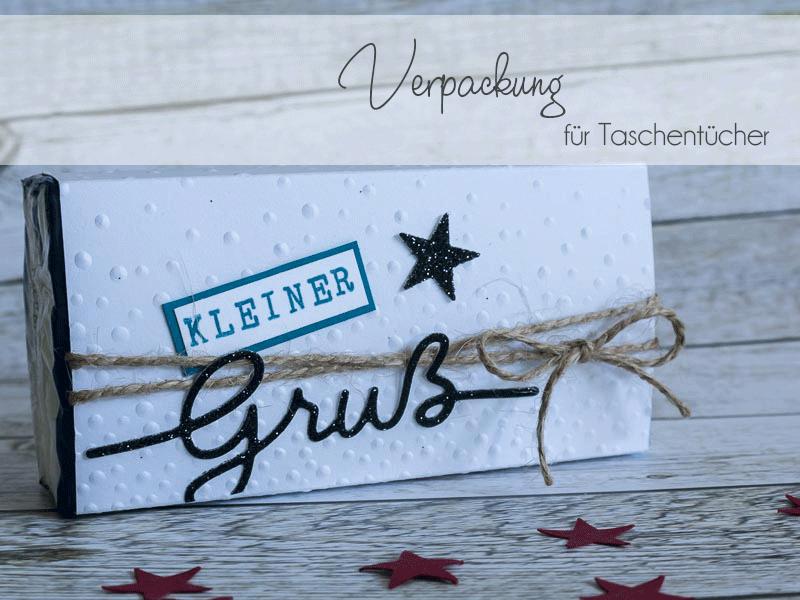 Weihnachtliche Hülle für eine Taschentuchverpackung, Goodie während der Weihnachtszeit, kleines Mitbringsel gestaltet mit Produkten von Stampin' Up! #CarosBastelbude