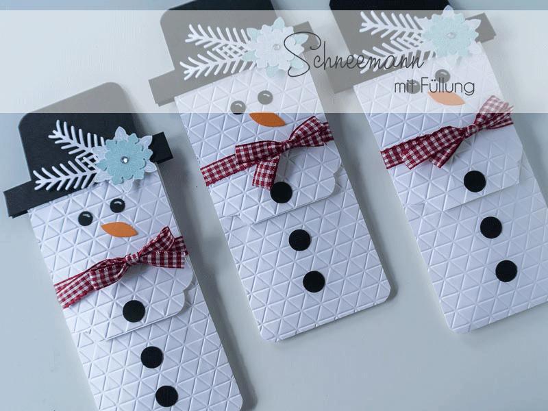 So macht Ihr eine Schneemannverpackung gefüllt mit einer Tüte Kaffee - ein süßes Goodie für Weihnachten und die kalte Jahreszeit. Anleitung auf meinem Blog.