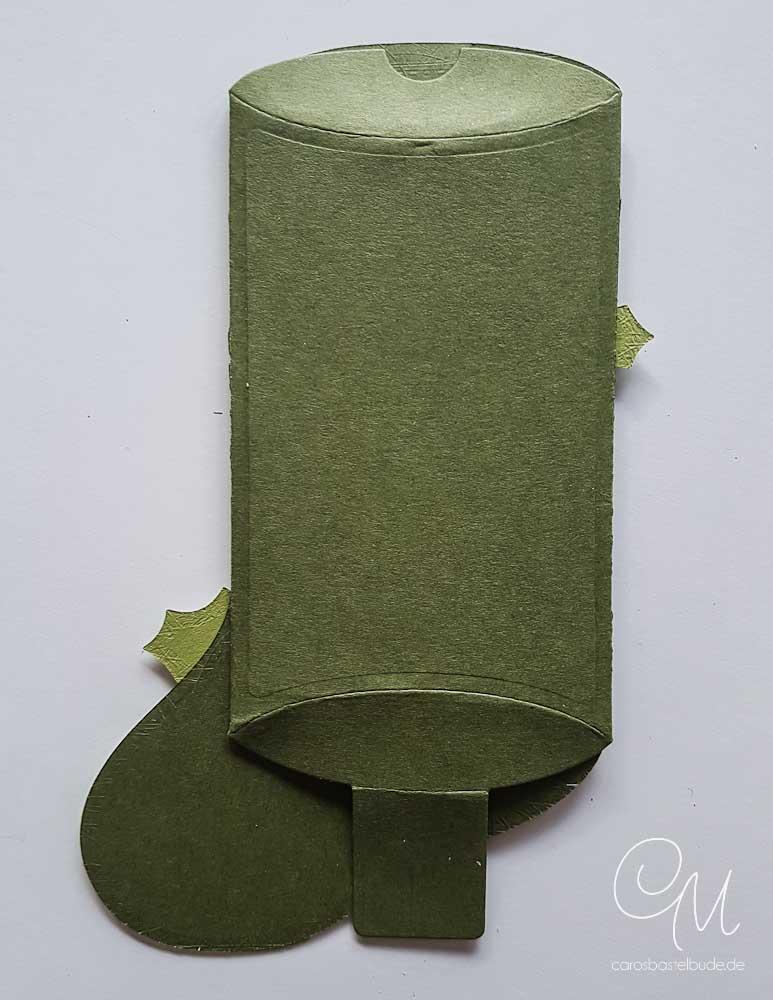 Nikolausstiefel Kleiner Wunscherfüller gemacht mit den Framelits-Formen Geschmückte Stiefel von Stampin' Up! #CarosBastelbude