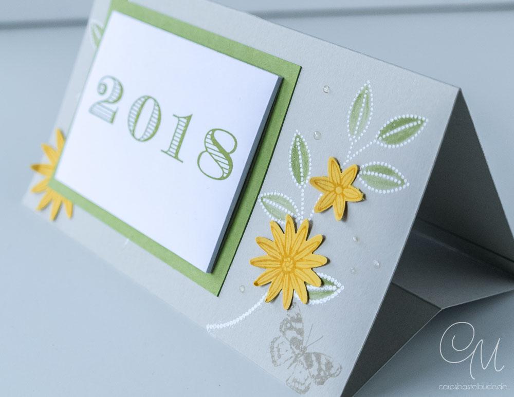 Mini-Kalender 2018 zum Aufstellen, Tutorial/Anleitung auf meinem Blog #CarosBastelbude