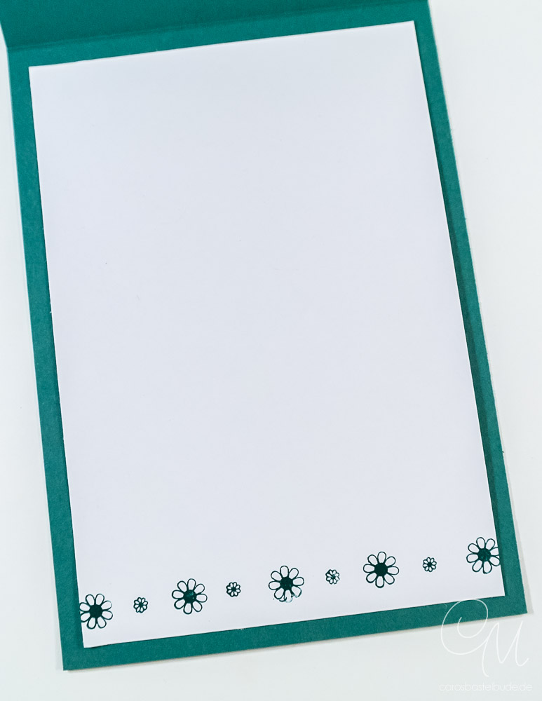 Stempelset Pfauengruß mit Hintergrund, gestaltet mit den Brusho Crystal Colours #CarosBastelbude