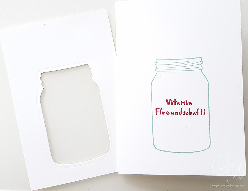 Schüttelkarte gestaltet mit den Stempelsets Gute-Laune-Korb und Etwas Süßes von Stampin' Up! - eine Anleitung. #CarosBastelbude
