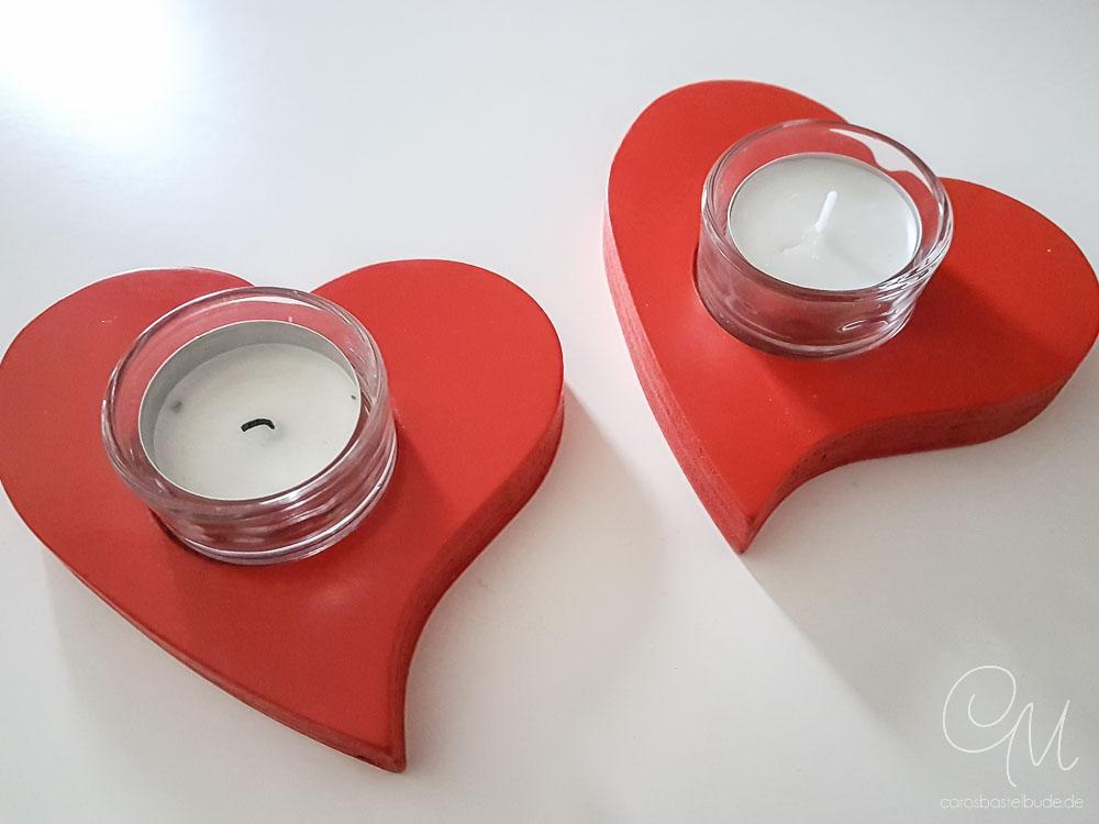 Teelicht aus Holz in Herzform #CarosBastelbude