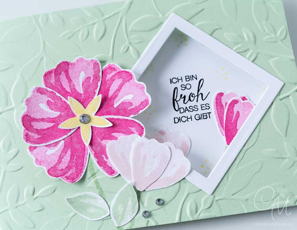 Grußkarte gestaltet mit dem Stempelset Das blühende Leben von Stampin`Up! nach einem Sketch von Freshly Made Sketches #CarosBastelbude
