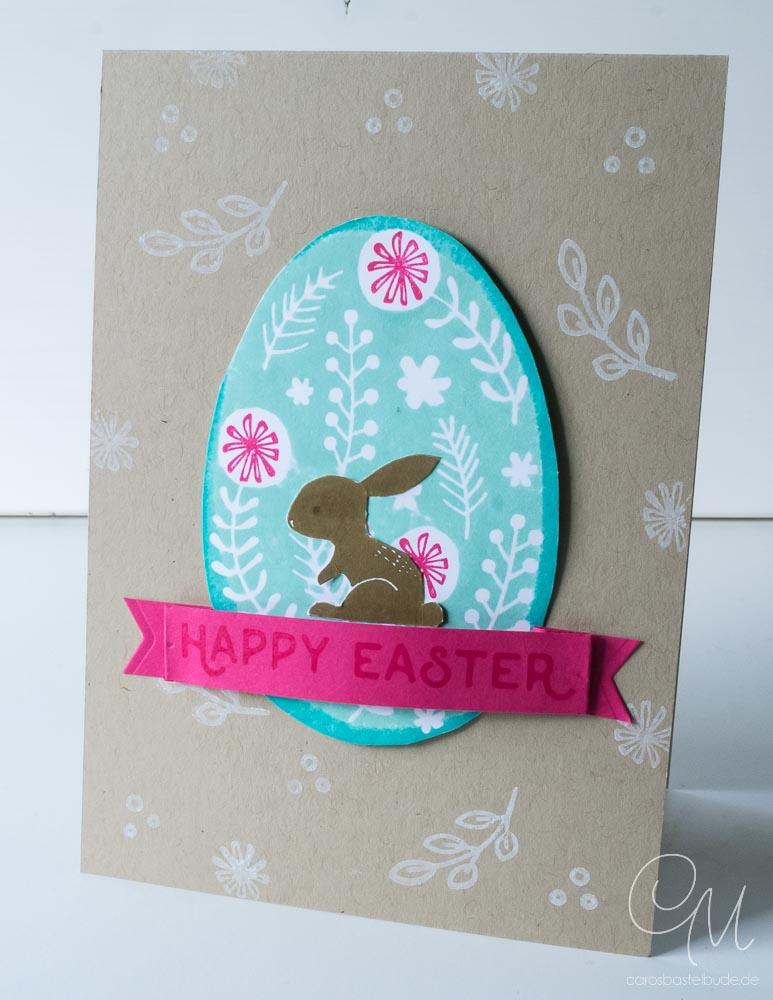 Osterkarte gestaltet mit dem Stempelset Hello Easter von Stampin' Up! #CarosBastelbude