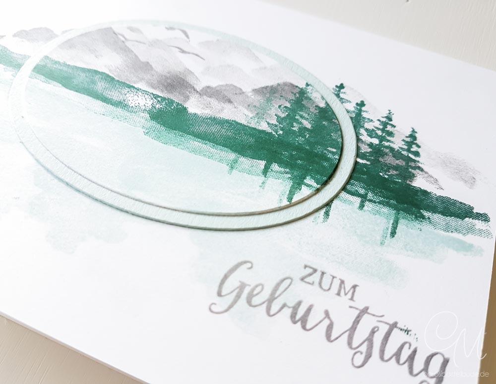 Mein Liebling des Monats im April: Grußkarte gestaltet mit dem Stempelset Am Ufer von Stampin' Up! #CarosBastelbude [Occassions Catalog, Waterfront ]