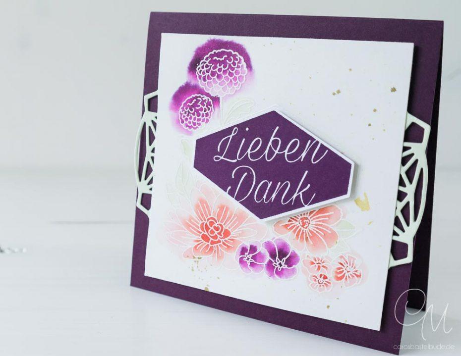 Grußkarte als kleines Dankeschön gestaltet mit dem Stempelset Blumiges Etikett von Stampin' Up!