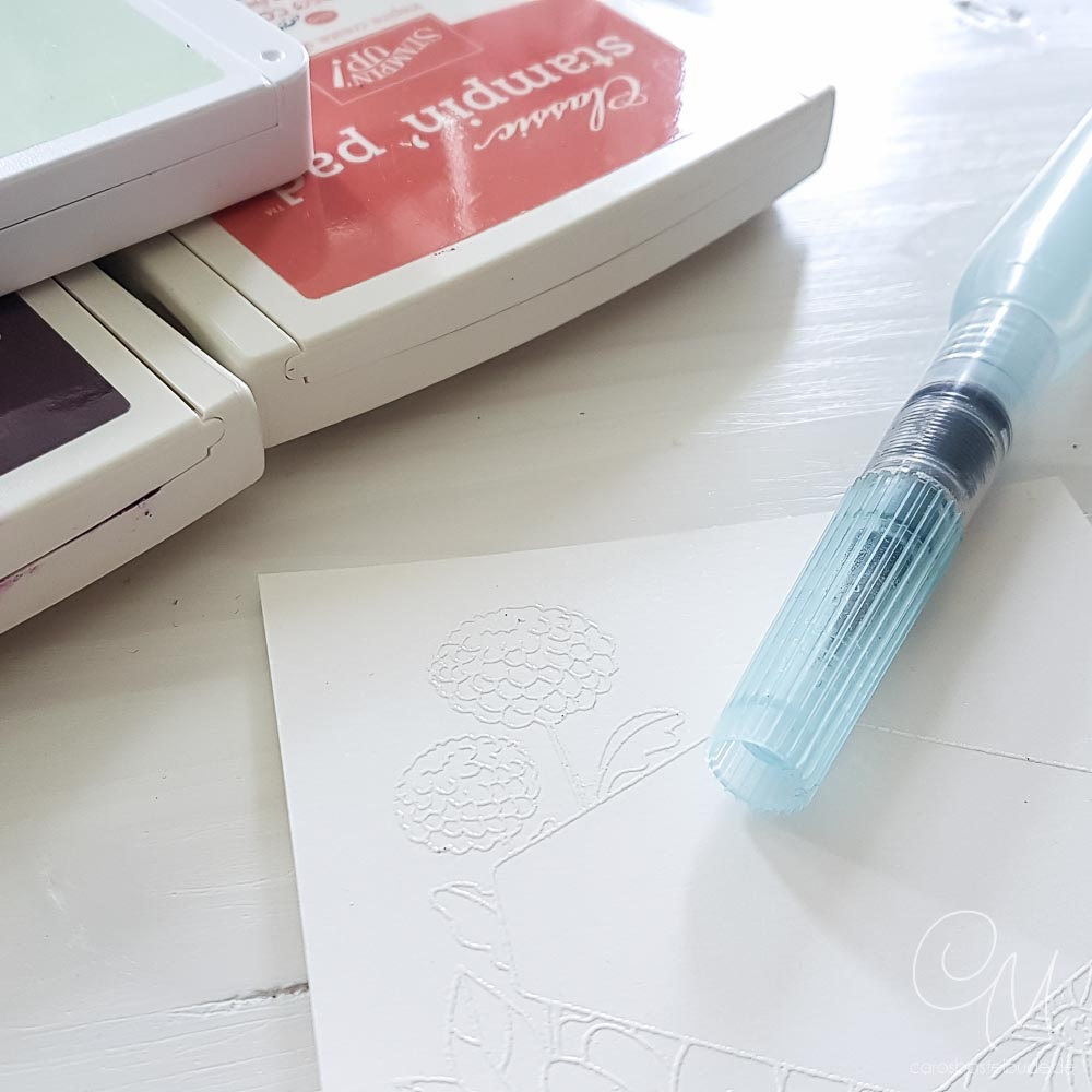 Zubehör für die Aquarelltechnik: Stempelfarben, Farbkarton Seidenglanz, Aquapainter