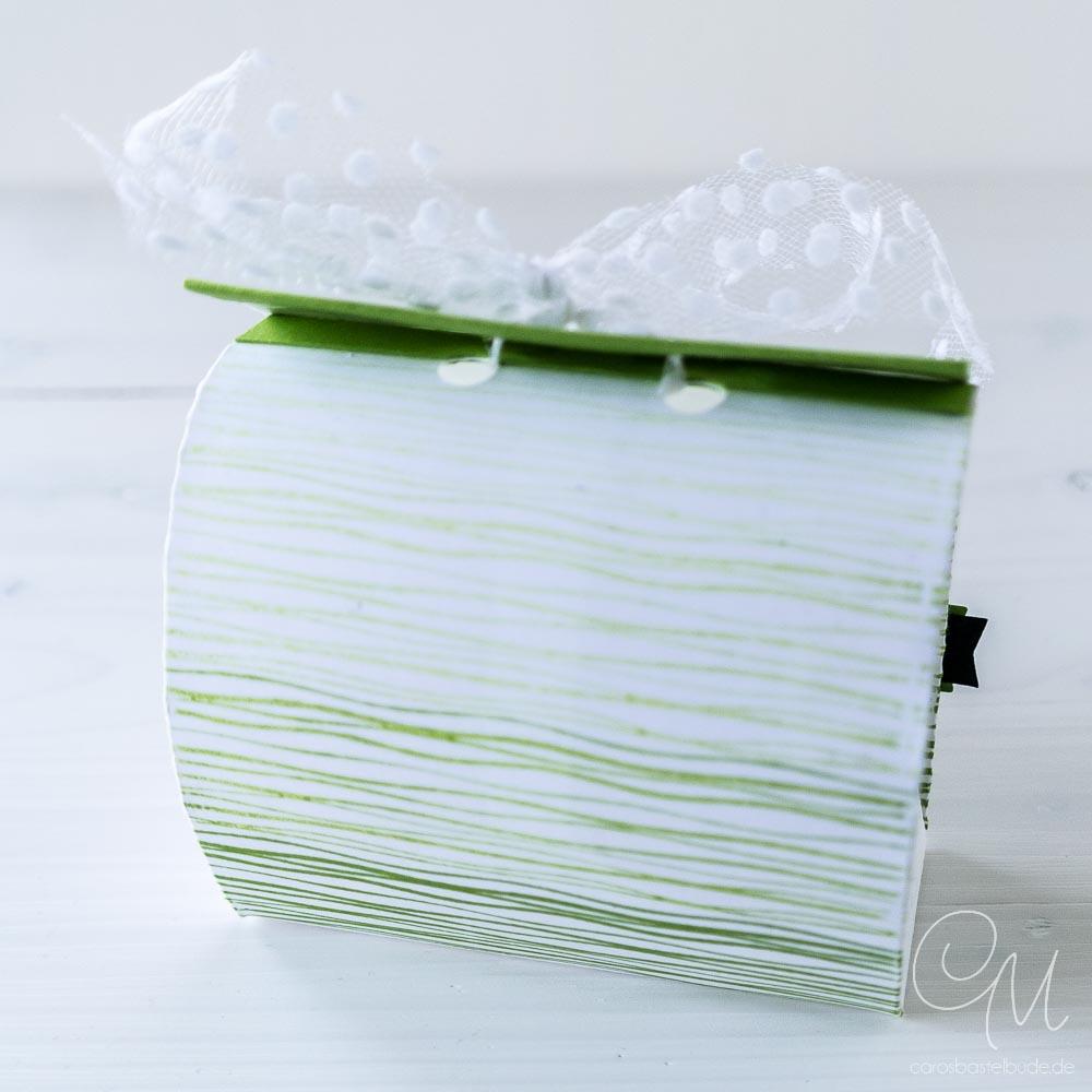 Rückseite der Geschenkverpackung, Stempelset Am Seerosenteich von Stampin' Up! #CarosBastelbude