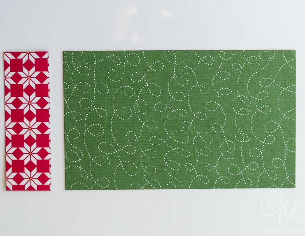 Caros Bastelbude, Geldgeschenk, zwei Streifen Designerpapier