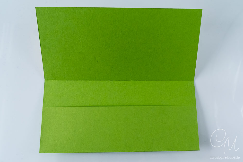 Geschenkverpackung für Geld oder Gutscheine gestaltet mit dem Stempelset Froschkönig von Stampin' Up!, Innenansicht