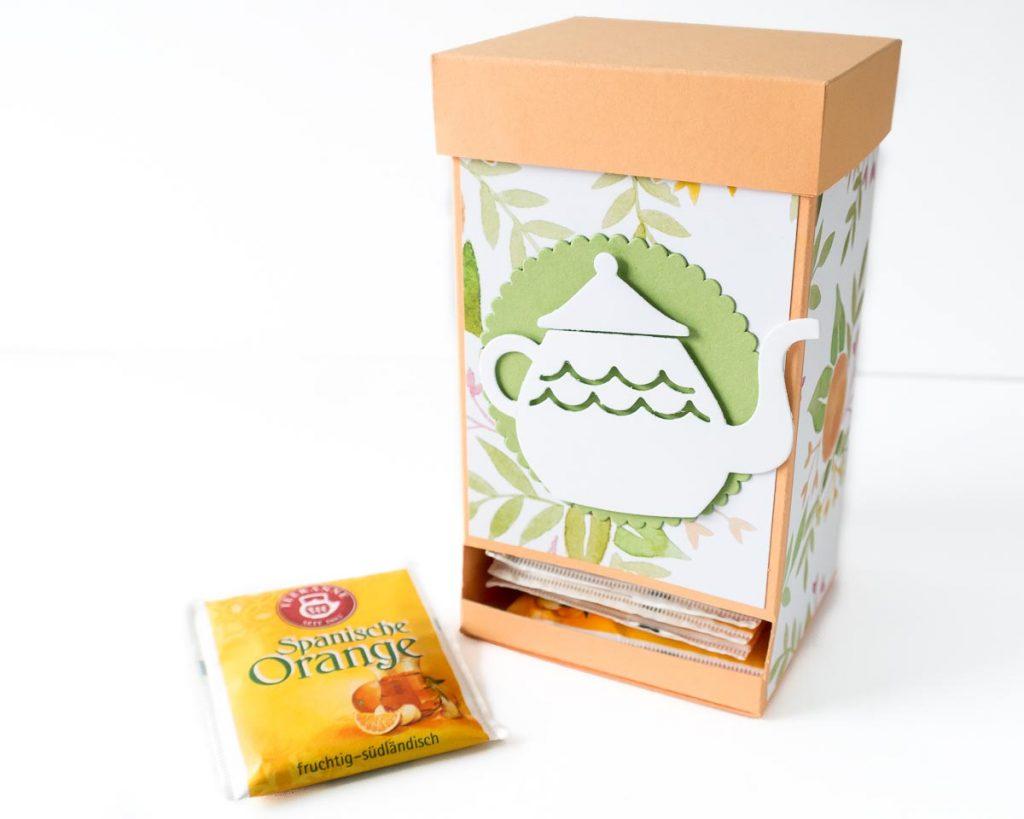 Teebeutelspender, Geschenkidee für Tee