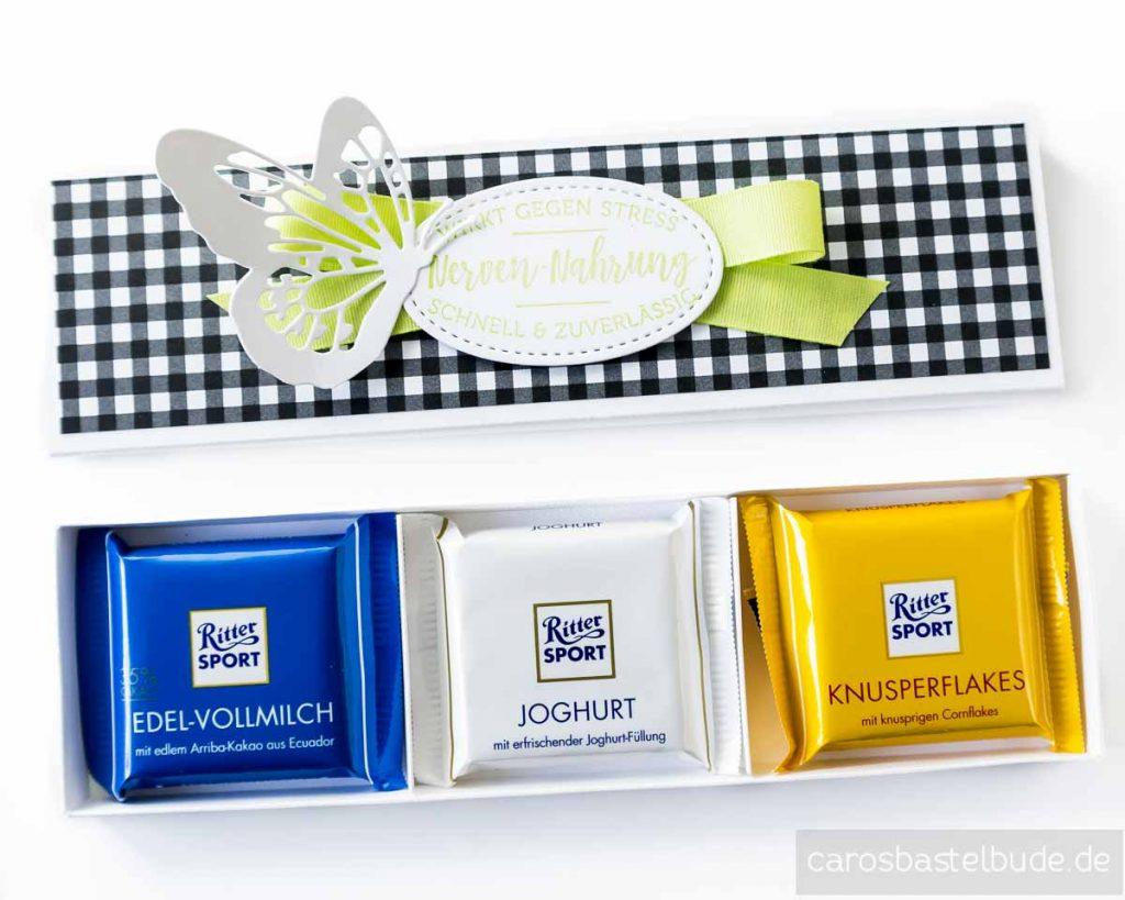 Geschenkverpackung für Schokolade, RitterSport mini