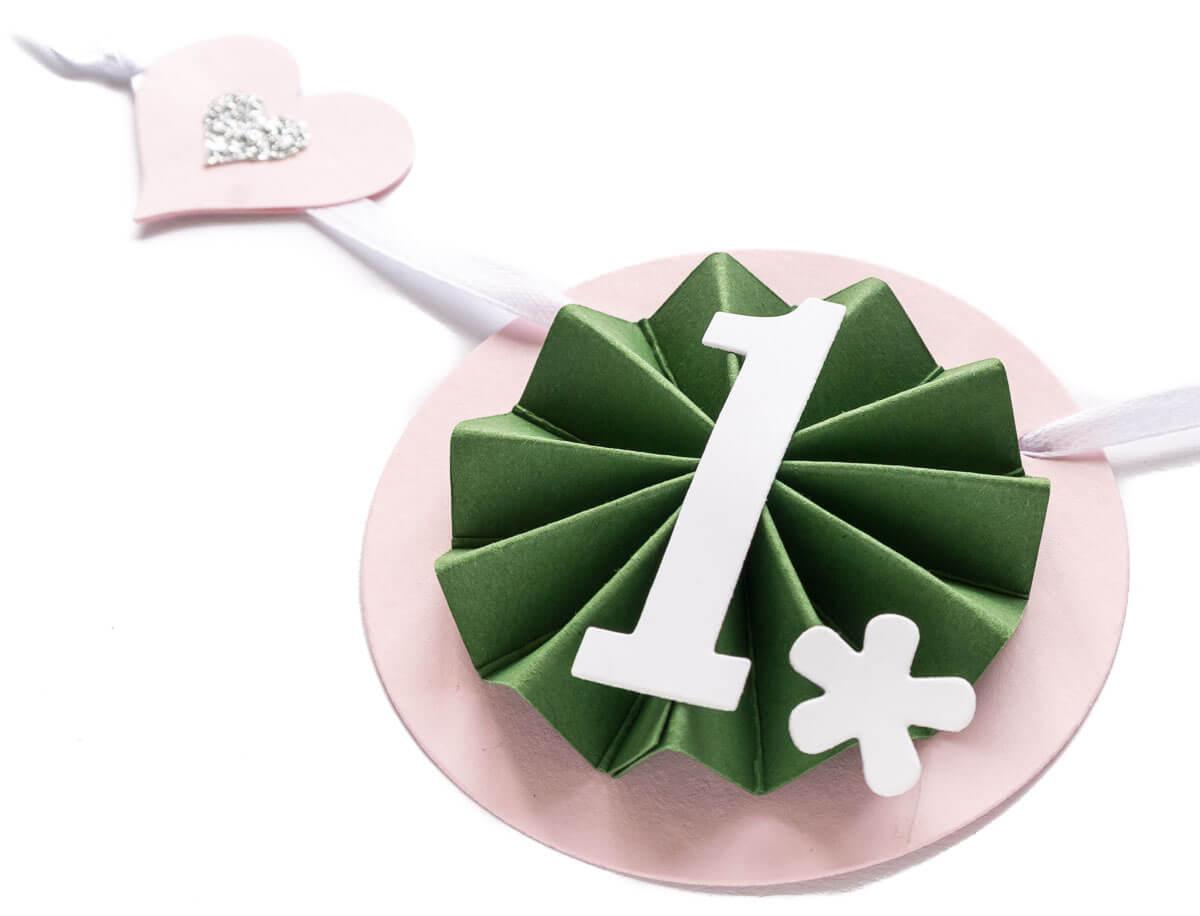 Geburtstagsgirlande Erster Geburtstag Mädchen